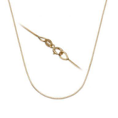 """שרשרת ונציה זהב צהוב 14 קראט, 0.53 מ""""מ עובי, 42 ס""""מ אורך"""