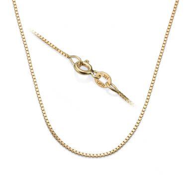"""שרשרת ונציה זהב צהוב 14 קראט, 0.8 מ""""מ עובי, 45 ס""""מ אורך"""