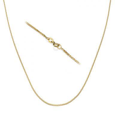 """שרשרת ספיגה זהב צהוב 14 קראט, 1 מ""""מ עובי, 50 ס""""מ אורך"""