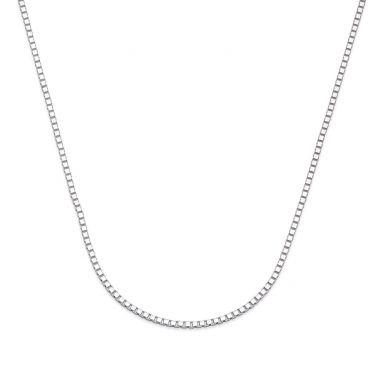 """שרשרת ונציה זהב לבן 14 קראט, 0.8 מ""""מ עובי, 50 ס""""מ אורך"""