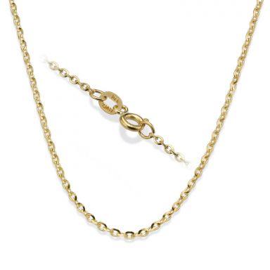 """שרשרת רולו זהב צהוב 14 קראט, 1.6 מ""""מ עובי, 45 ס""""מ אורך"""