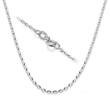 """שרשרת רולו זהב לבן 14 קראט, 1.6 מ""""מ עובי, 45 ס""""מ אורך"""