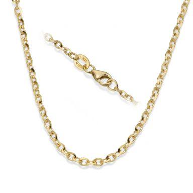 """שרשרת רולו זהב צהוב 14 קראט, 2.2 מ""""מ עובי, 50 ס""""מ אורך"""