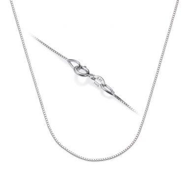 """שרשרת ונציה זהב לבן 14 קראט, 0.53 מ""""מ עובי, 40 ס""""מ אורך"""