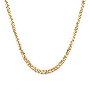 """שרשרת זהב צהוב 14 קראט לגבר, מדגם ספיגה 1.5 מ""""מ עובי, 50 ס""""מ אורך"""