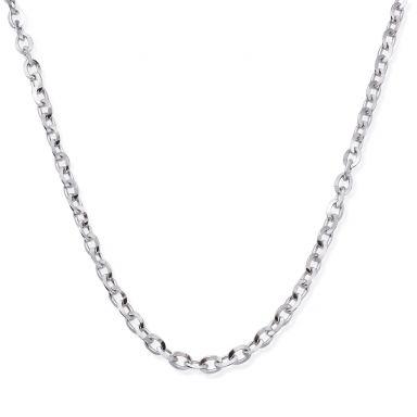 """שרשרת זהב לבן 14 קראט לגברים, מדגם רולו 2.2 מ""""מ עובי, 50 ס""""מ אורך"""