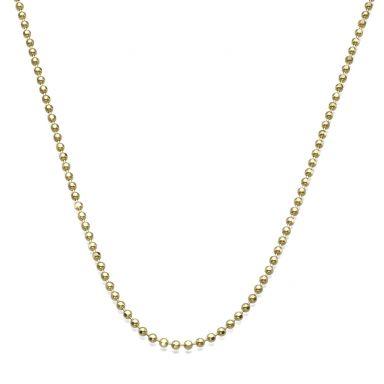 """שרשרת זהב צהוב 14 קראט לגבר, מדגם כדורים 1.8 מ""""מ עובי, 50 ס""""מ אורך"""