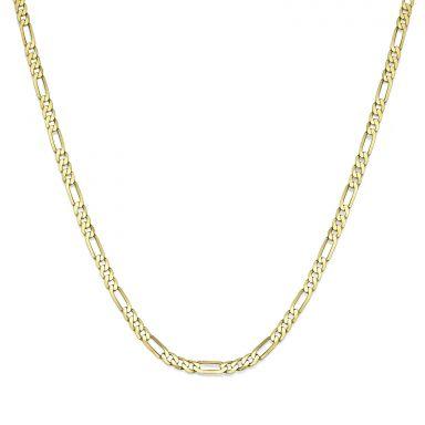 """שרשרת זהב צהוב 14 קראט לגברים, מדגם פיגרו 3.06 מ''מ עובי, 50 ס""""מ אורך"""