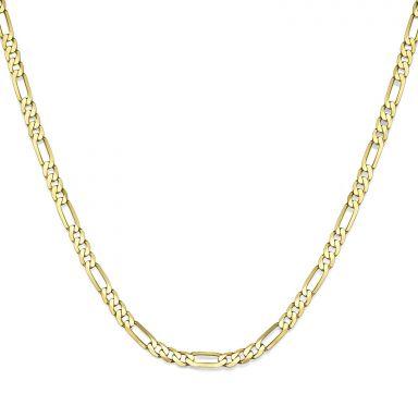 """שרשרת זהב צהוב 14 קראט לגבר, מדגם פיגרו 3.84 מ''מ עובי, 50 ס""""מ אורך"""