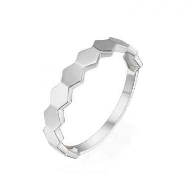 טבעת מזהב לבן 14 קראט - האני