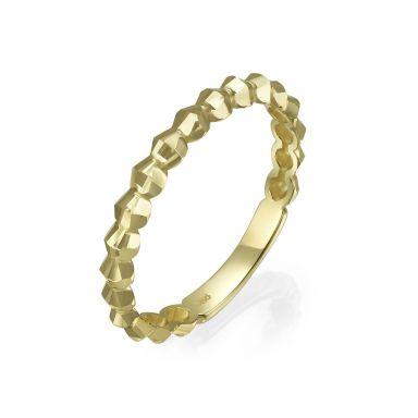טבעת מזהב צהוב 14 קראט - שר