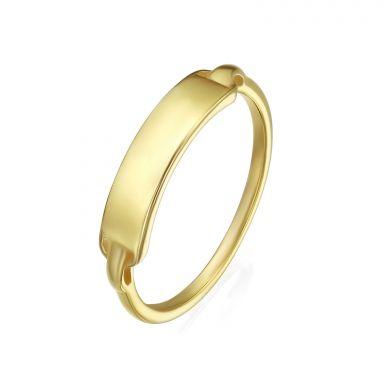 טבעת מזהב צהוב 14 קראט - חותם מדריד