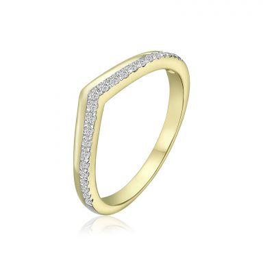 טבעת יהלומים מזהב צהוב 14 קראט - ריילי