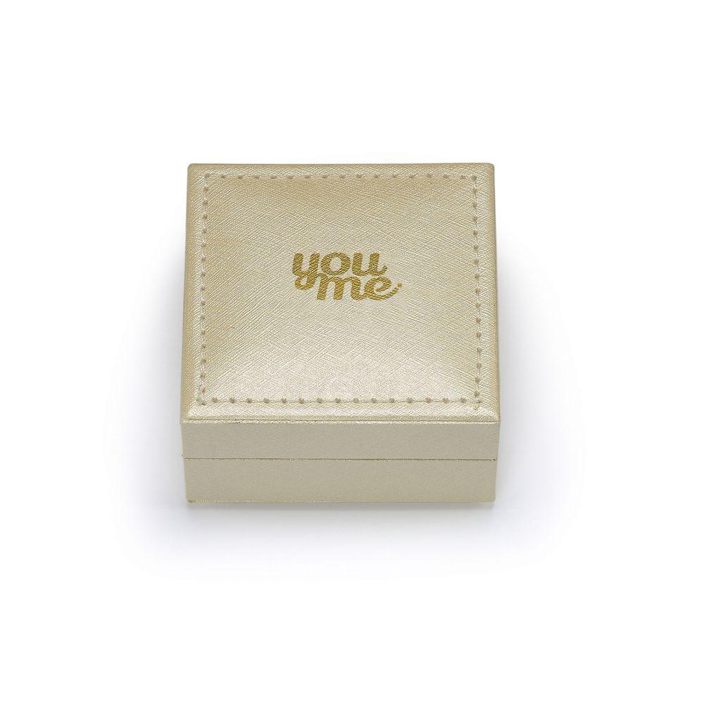 עגילי זהב | עגילי חישוק מזהב צהוב 14 קראט - קלייר
